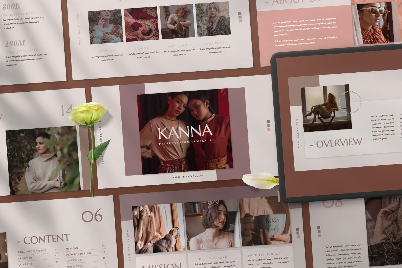 Kanna Creative Brand Keynote, 07459, Presentation Templates — PoweredTemplate.com