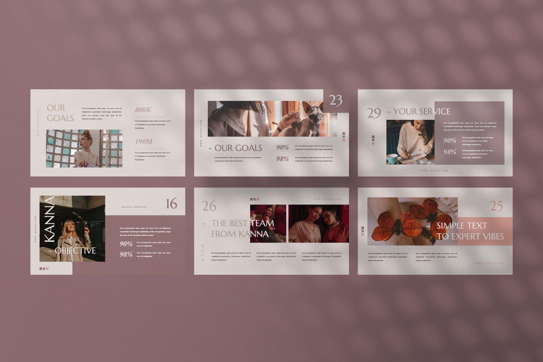 Kanna Creative Brand Keynote, Slide 10, 07459, Presentation Templates — PoweredTemplate.com