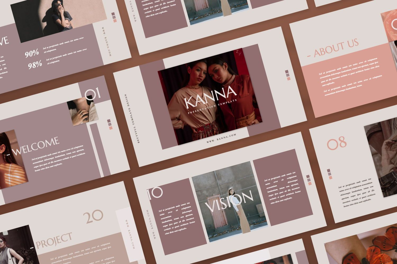 Kanna Creative Brand Keynote, Slide 2, 07459, Presentation Templates — PoweredTemplate.com
