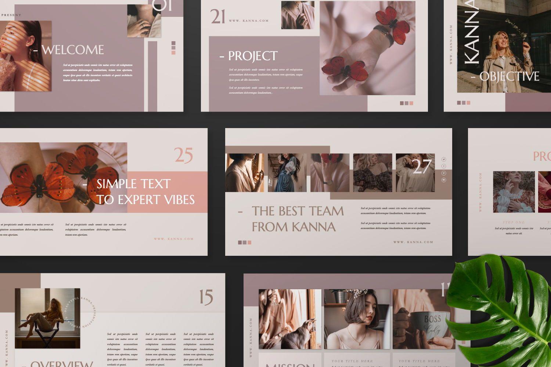 Kanna Creative Brand Keynote, Slide 4, 07459, Presentation Templates — PoweredTemplate.com