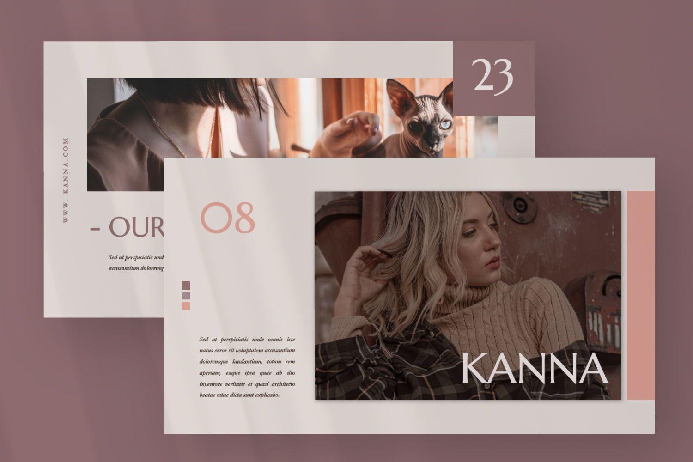 Kanna Creative Brand Keynote, Slide 6, 07459, Presentation Templates — PoweredTemplate.com