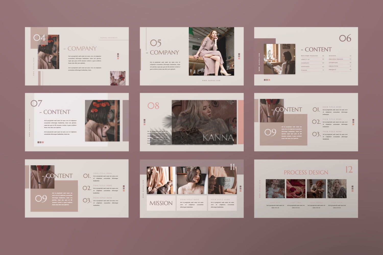 Kanna Creative Brand Keynote, Slide 7, 07459, Presentation Templates — PoweredTemplate.com
