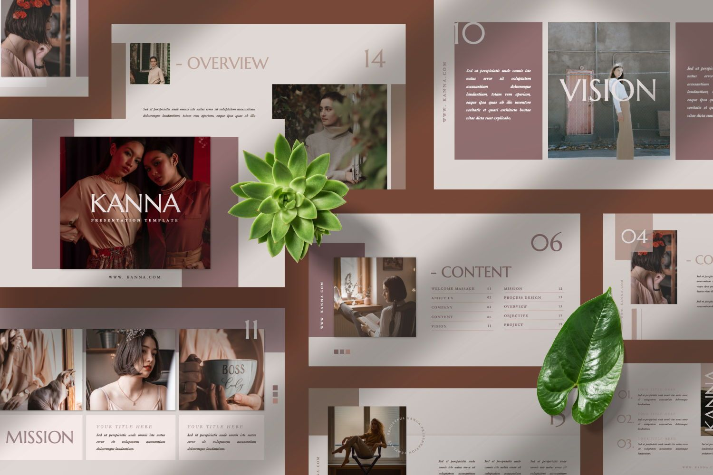 Kanna Creative Brand Keynote, Slide 8, 07459, Presentation Templates — PoweredTemplate.com