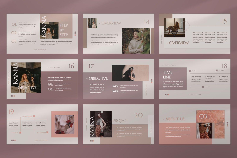 Kanna Creative Brand Keynote, Slide 9, 07459, Presentation Templates — PoweredTemplate.com