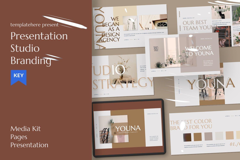 Youna Creative Keynote, 07462, Presentation Templates — PoweredTemplate.com