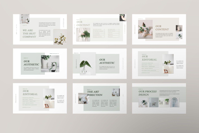 Nanase Creative Google Slide, Slide 4, 07463, Presentation Templates — PoweredTemplate.com