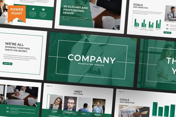 Presentation Templates: Company Business Powerpoint #07465