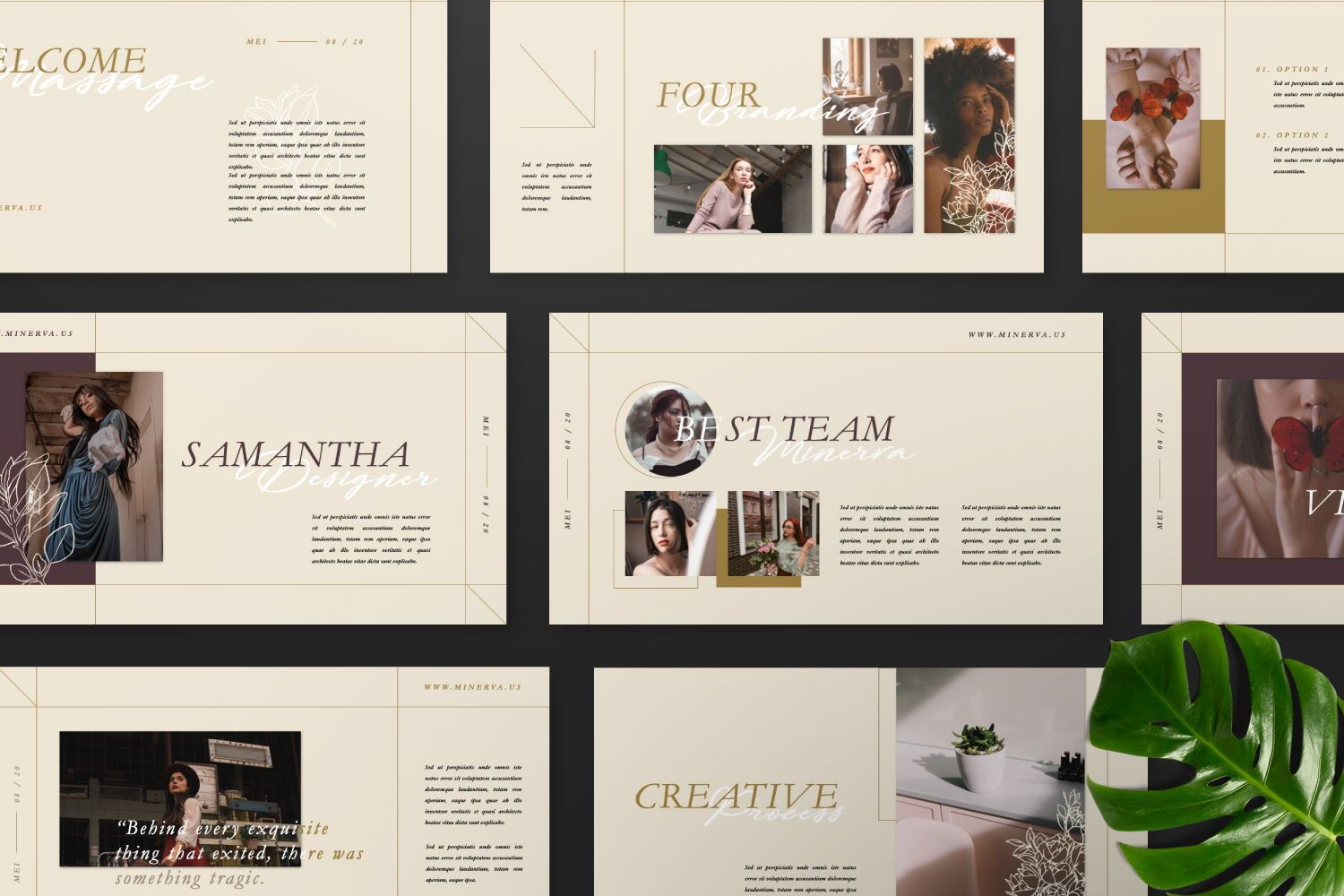 Minerva Creative Powerpoint, Slide 10, 07466, Presentation Templates — PoweredTemplate.com
