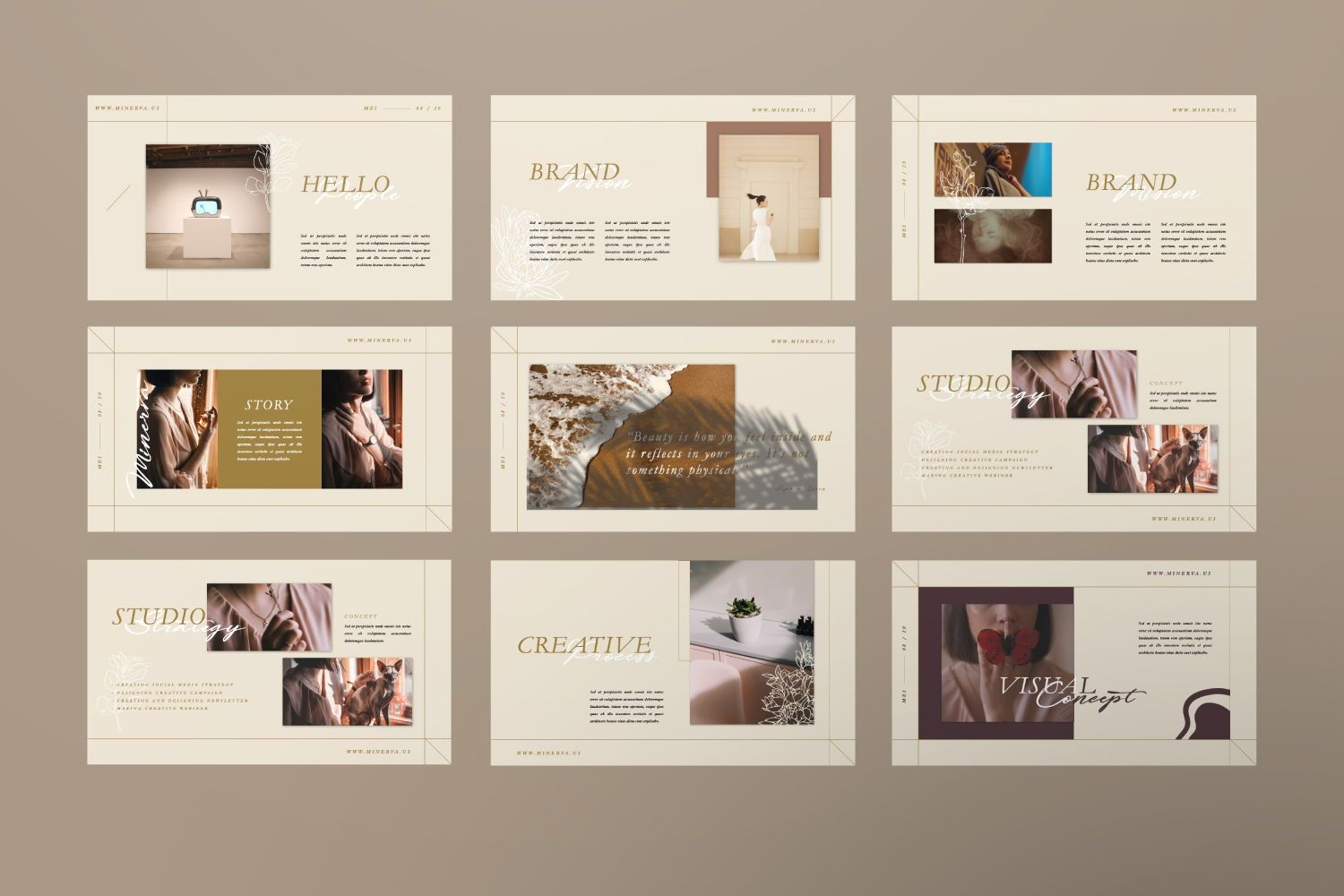 Minerva Creative Powerpoint, Slide 2, 07466, Presentation Templates — PoweredTemplate.com