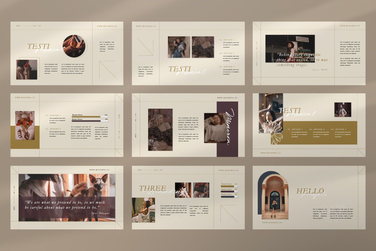 Minerva Creative Powerpoint, Slide 3, 07466, Presentation Templates — PoweredTemplate.com