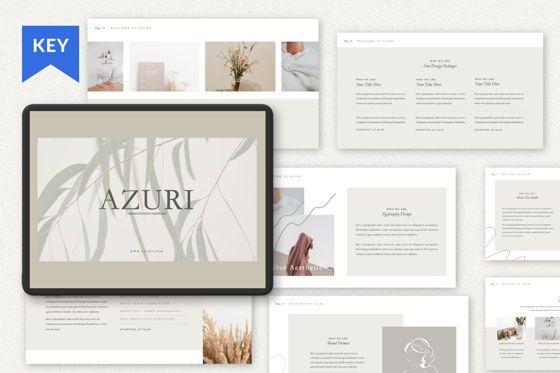 Presentation Templates: Azuri Creative Keynote #07470