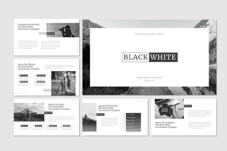 Black and White - PowerPoint Template, Slide 2, 07473, Presentation Templates — PoweredTemplate.com