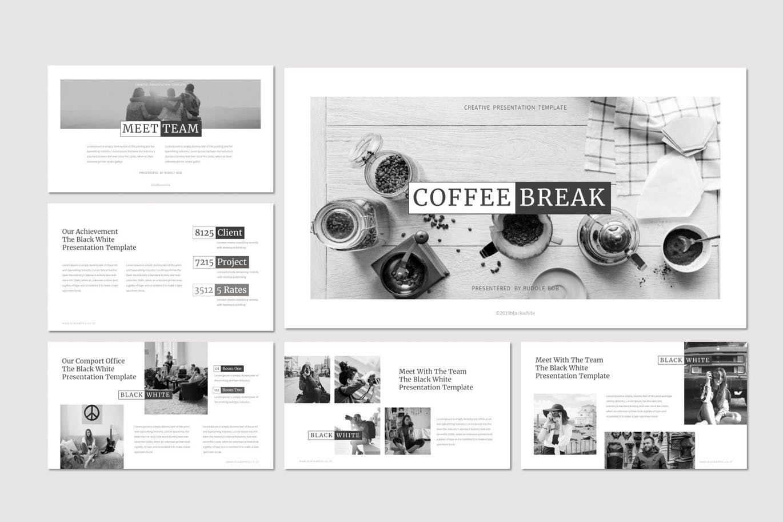 Black and White - PowerPoint Template, Slide 3, 07473, Presentation Templates — PoweredTemplate.com