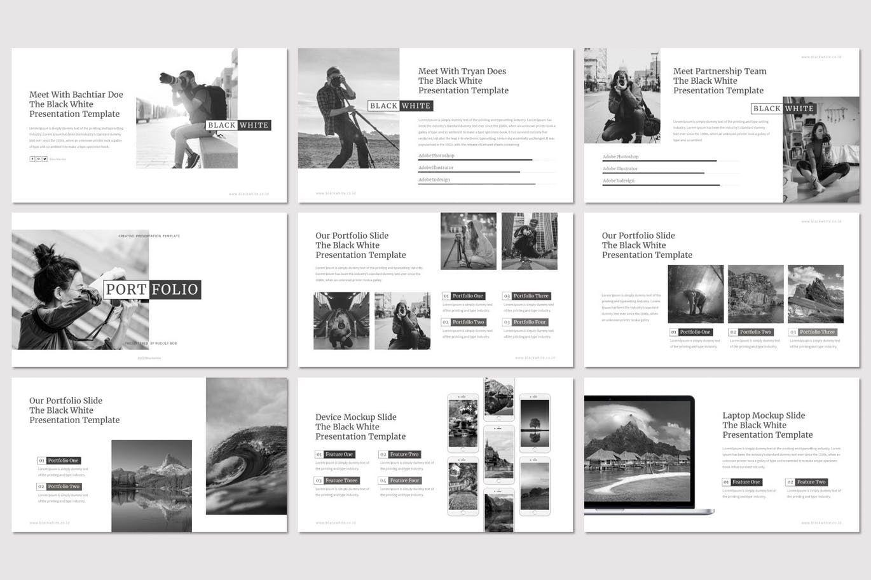 Black and White - PowerPoint Template, Slide 4, 07473, Presentation Templates — PoweredTemplate.com