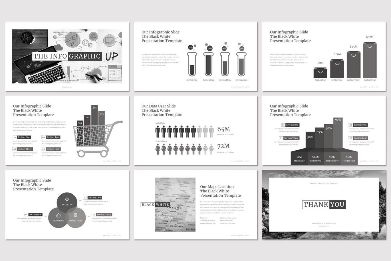 Black and White - PowerPoint Template, Slide 5, 07473, Presentation Templates — PoweredTemplate.com