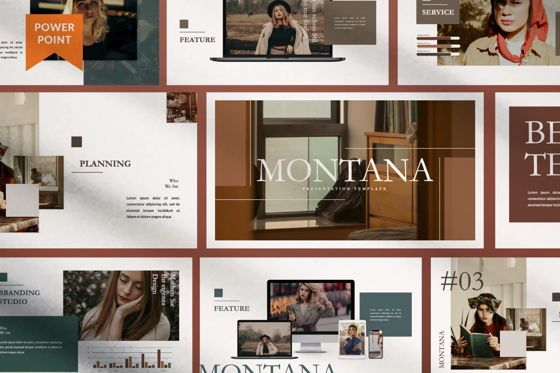 Presentation Templates: Montana Brand Powerpoint #07475