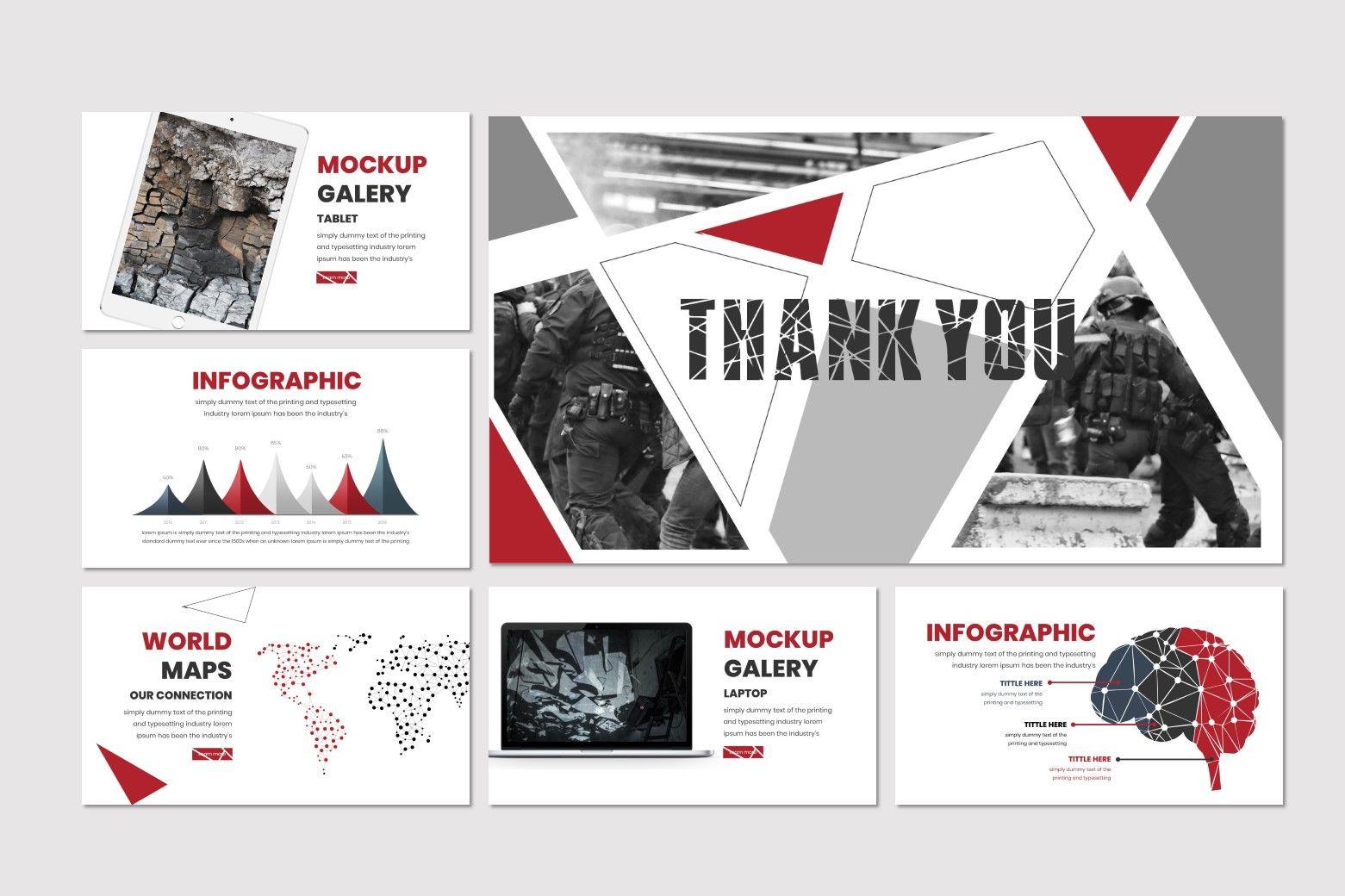 Broken - PowerPoint Template, Slide 5, 07480, Presentation Templates — PoweredTemplate.com