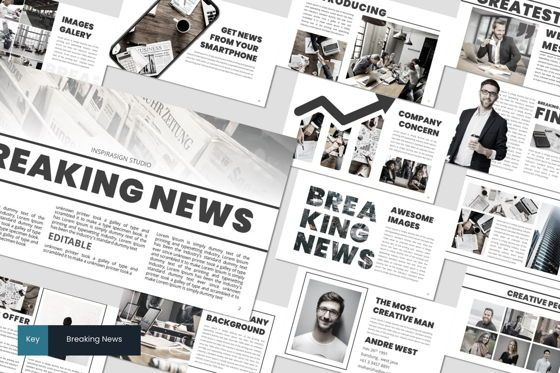 Presentation Templates: Breaking News - Keynote Template #07481