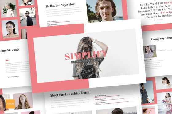 Presentation Templates: Simplify - Google Slides Template #07483