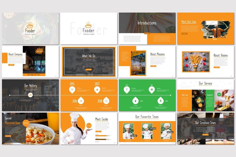 Fooder - Keynote Template, Slide 2, 07487, Presentation Templates — PoweredTemplate.com