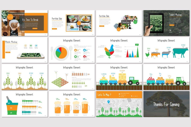 Fooder - Keynote Template, Slide 3, 07487, Presentation Templates — PoweredTemplate.com