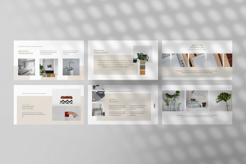 Aesthetic Brand Powerpoint Template Presentasi 76659