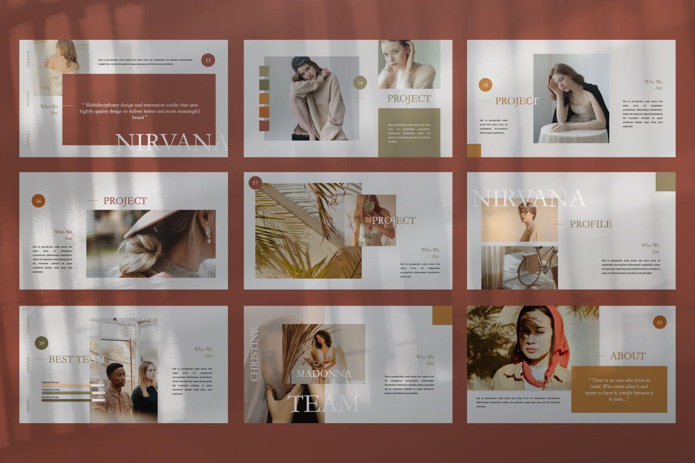 Nirvana Brand Keynote, Slide 4, 07492, Presentation Templates — PoweredTemplate.com