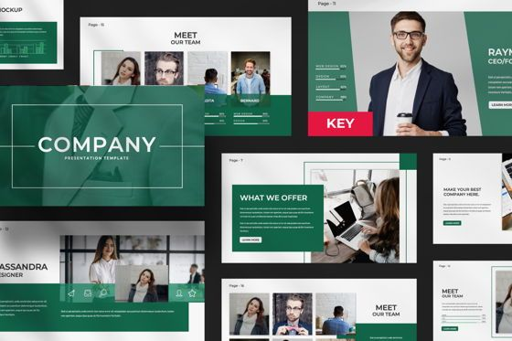 Presentation Templates: Company Business Keynote #07493