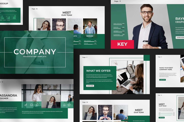 Company Business Keynote, 07493, Presentation Templates — PoweredTemplate.com
