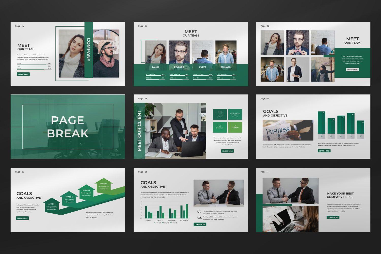 Company Business Keynote, Slide 5, 07493, Presentation Templates — PoweredTemplate.com