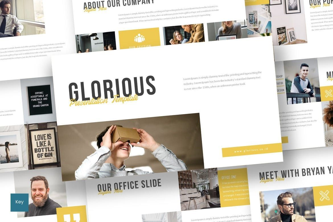 Glorious - Keynote Template, 07500, Presentation Templates — PoweredTemplate.com