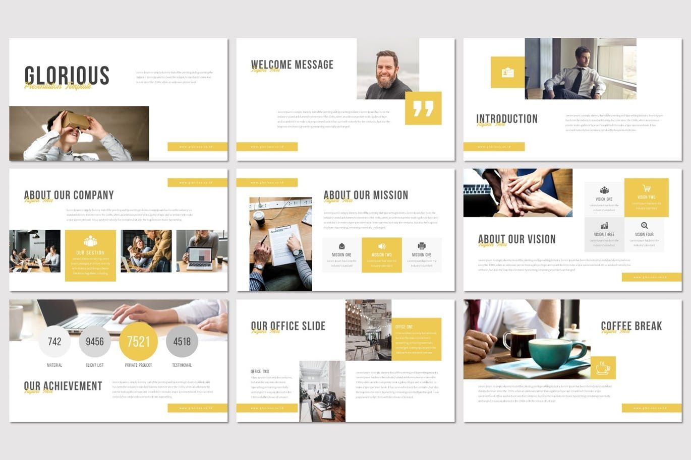 Glorious - Keynote Template, Slide 2, 07500, Presentation Templates — PoweredTemplate.com
