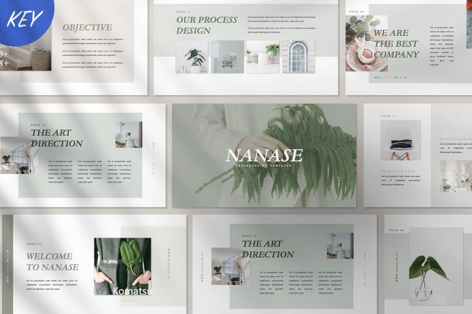 Nanase Creative Keynote, 07503, Presentation Templates — PoweredTemplate.com