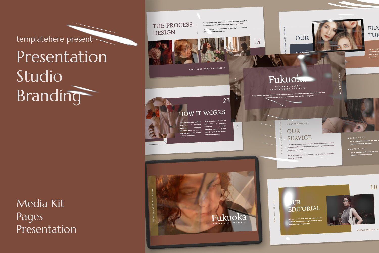 Fukuoka Creative Powerpoint, 07504, Presentation Templates — PoweredTemplate.com
