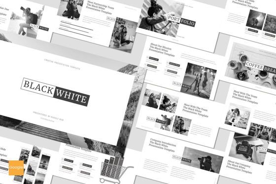 Presentation Templates: Black and White - Google Slides Template #07505