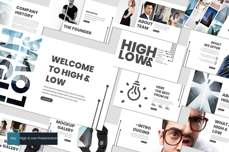High and Low - Keynote Template, 07506, Presentation Templates — PoweredTemplate.com