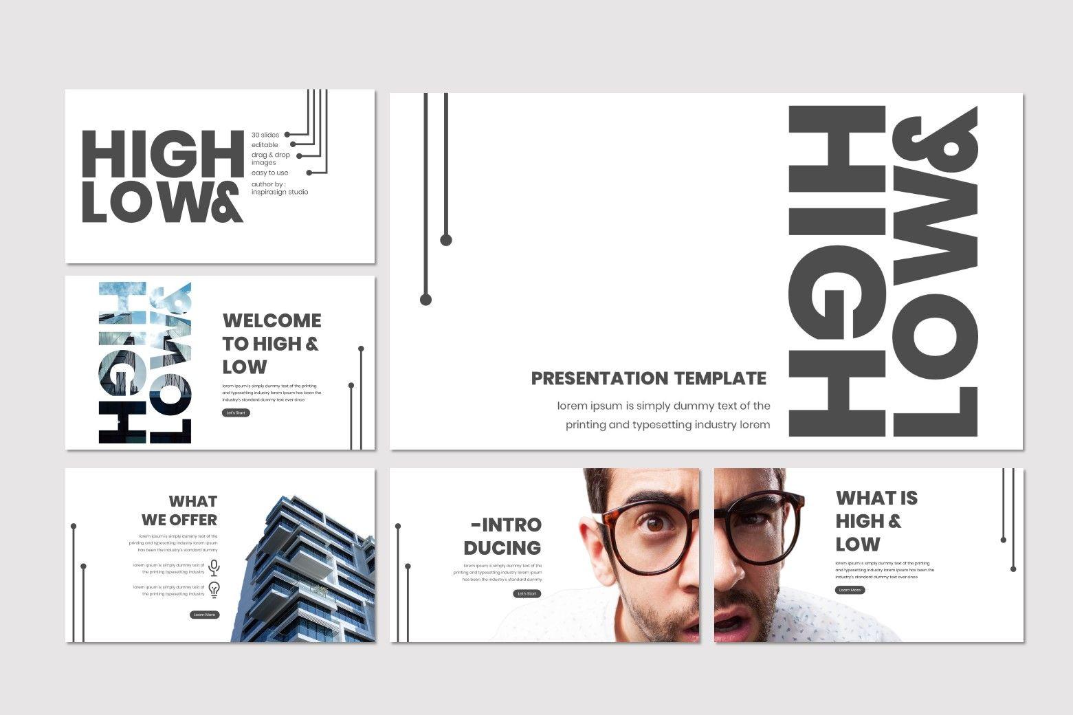 High and Low - Keynote Template, Slide 2, 07506, Presentation Templates — PoweredTemplate.com