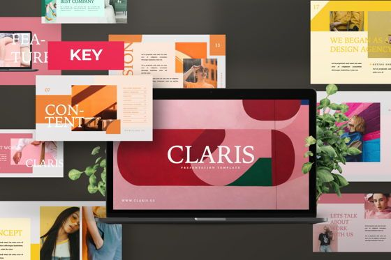 Presentation Templates: Claris Creative Brand Keynote #07508