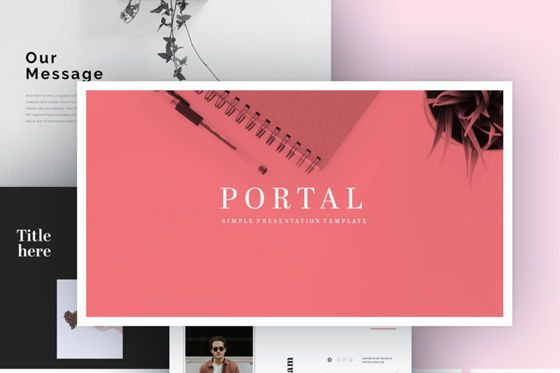 Presentation Templates: Portal Powerpoint Presentation Template #07512