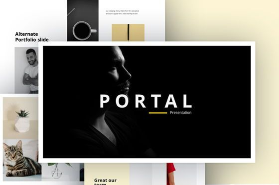 Presentation Templates: Portfolio Powerpoint Template #07515