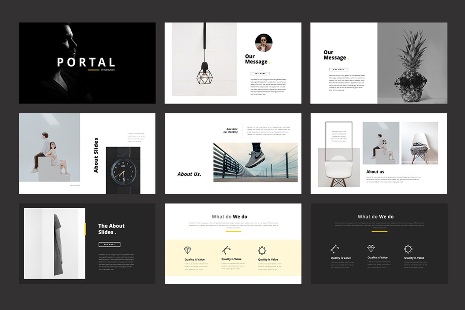 Portfolio Powerpoint Template, Slide 2, 07515, Presentation Templates — PoweredTemplate.com