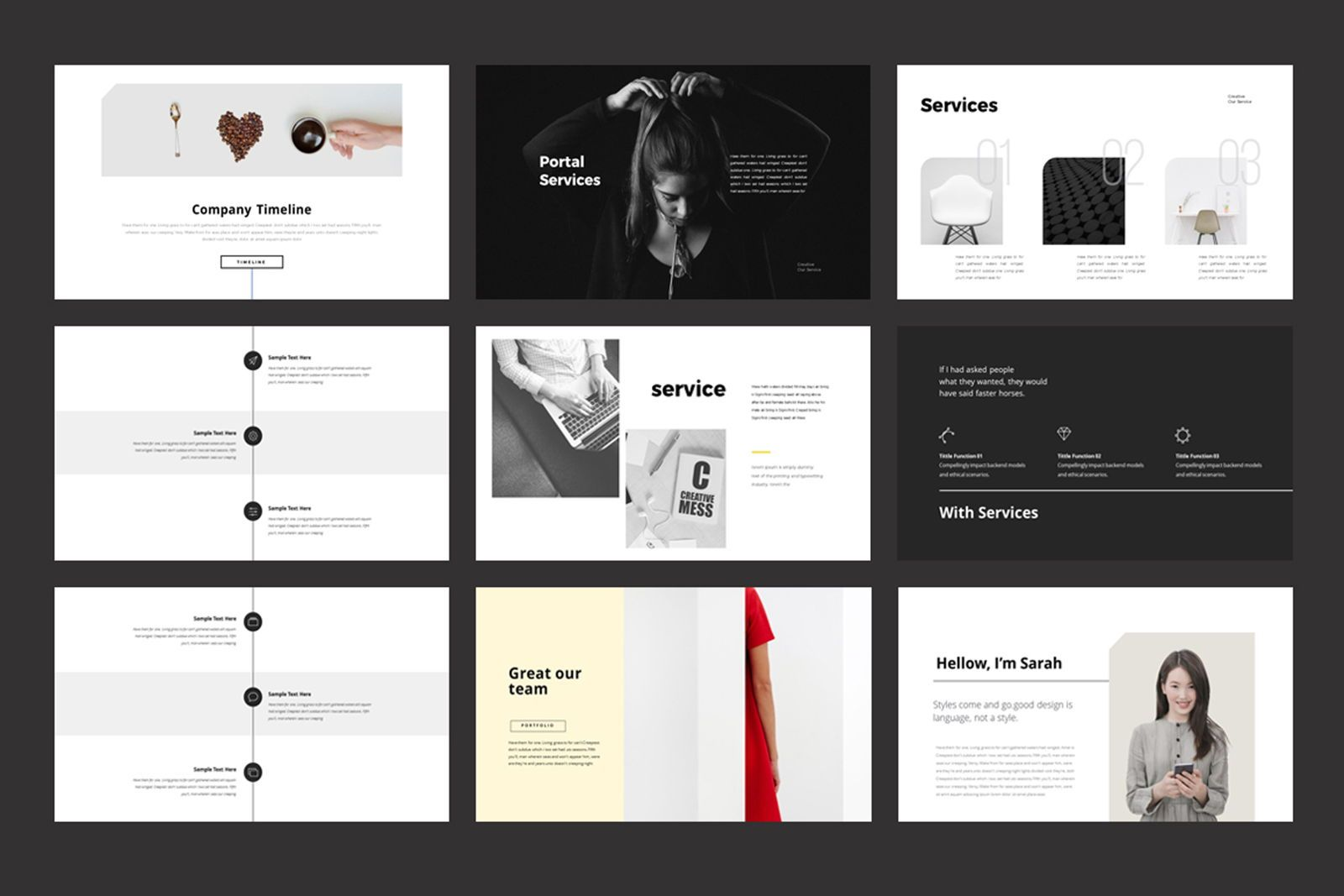 Portfolio Powerpoint Template, Slide 3, 07515, Presentation Templates — PoweredTemplate.com