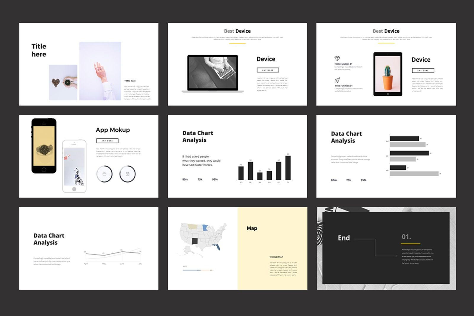 Portfolio Powerpoint Template, Slide 5, 07515, Presentation Templates — PoweredTemplate.com