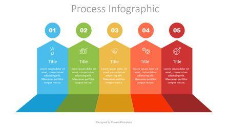 Infographics: 5 Upward Arrows Process Infographic #07517