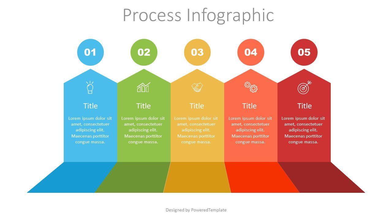 5 Upward Arrows Process Infographic, 07517, Infographics — PoweredTemplate.com