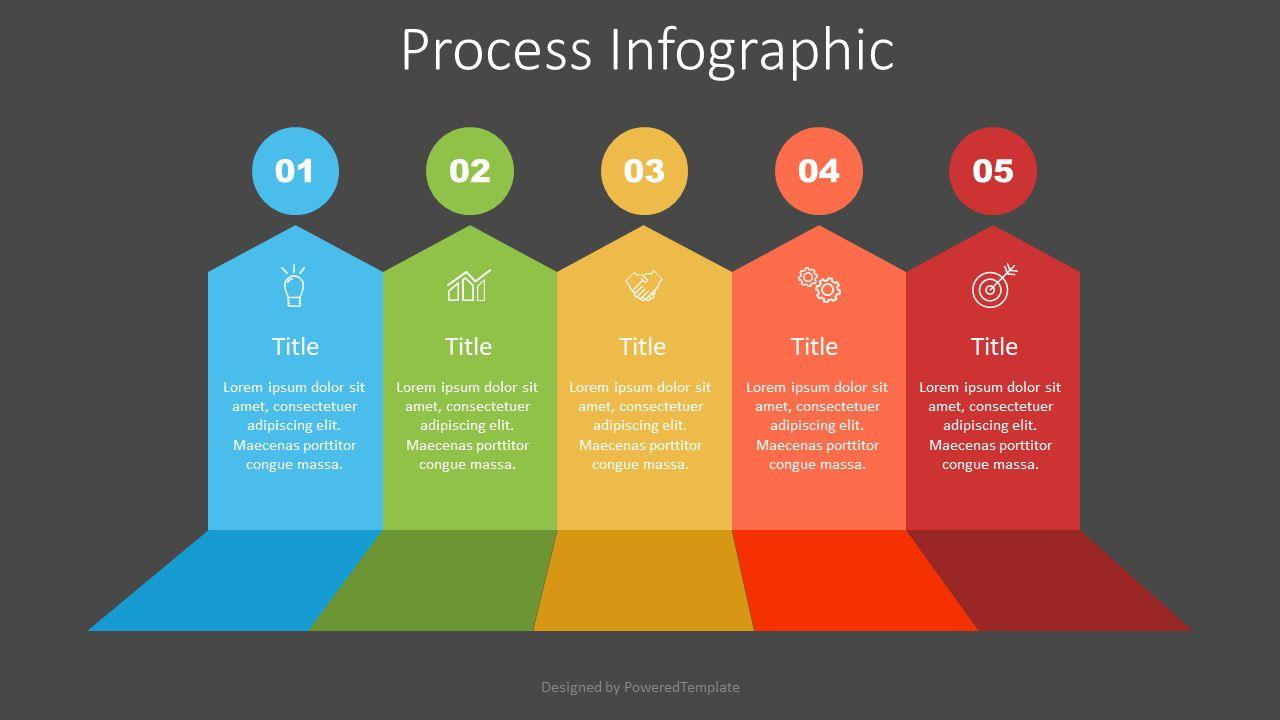 5 Upward Arrows Process Infographic, Slide 2, 07517, Infographics — PoweredTemplate.com