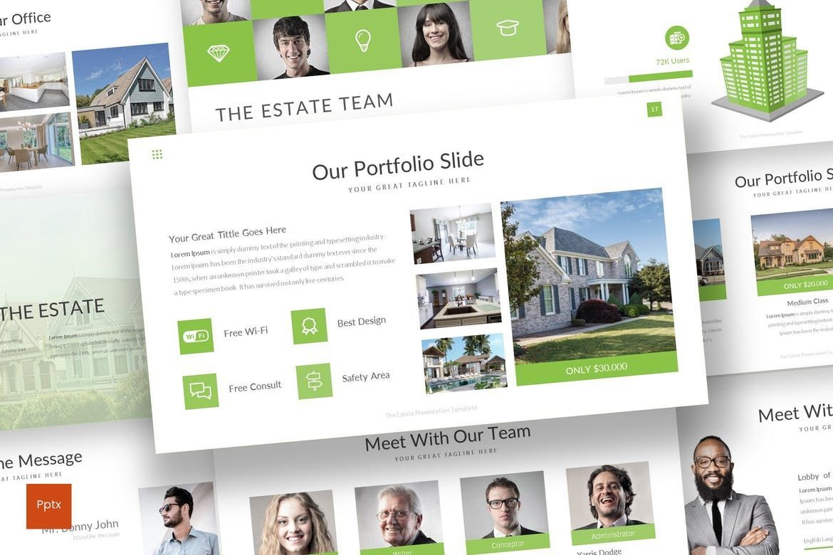 The Estate - PowerPoint Template, 07519, Presentation Templates — PoweredTemplate.com