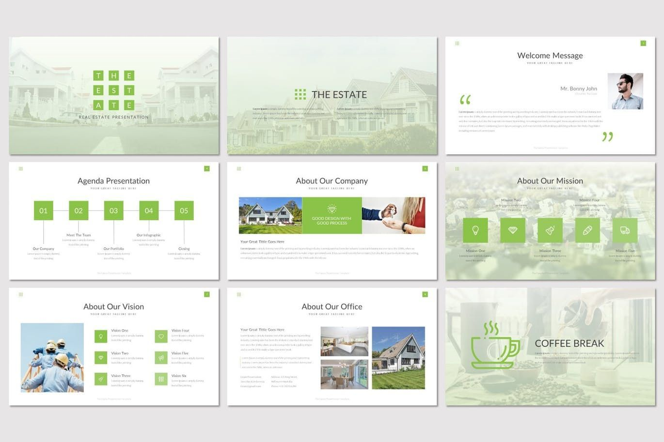 The Estate - PowerPoint Template, Slide 2, 07519, Presentation Templates — PoweredTemplate.com