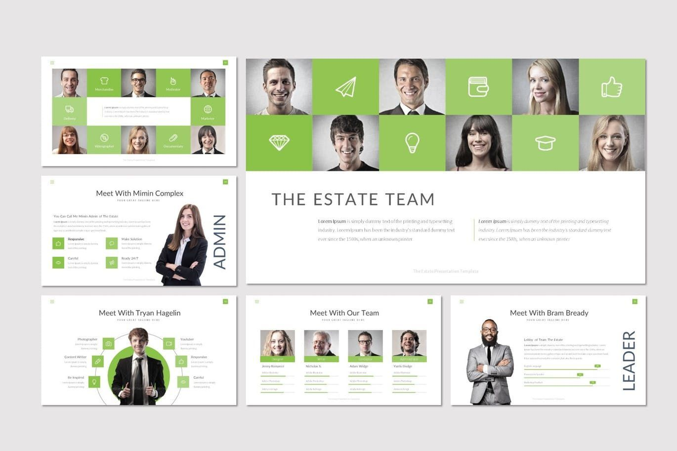 The Estate - PowerPoint Template, Slide 3, 07519, Presentation Templates — PoweredTemplate.com