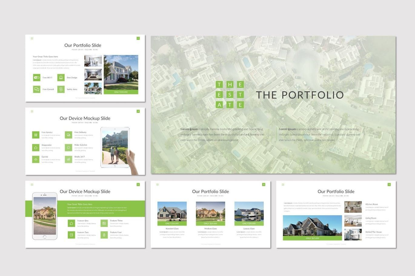 The Estate - PowerPoint Template, Slide 4, 07519, Presentation Templates — PoweredTemplate.com